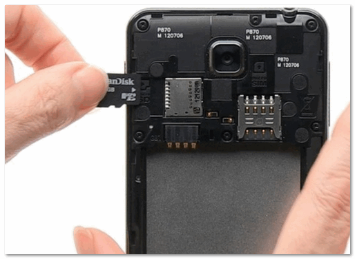 Подключаем MicroSD карту к телефону