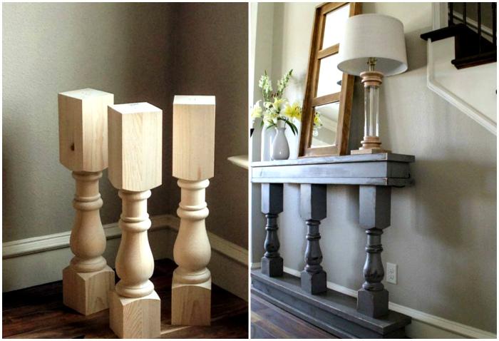 Консольный столик с колоннами.
