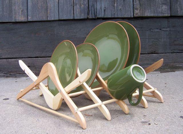 подставка для посуды своими руками из вешалок