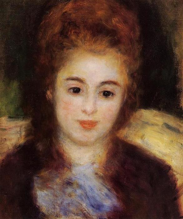 12 голова молодой женщины с голубым шарфиком 1876 (585x700, 64Kb)