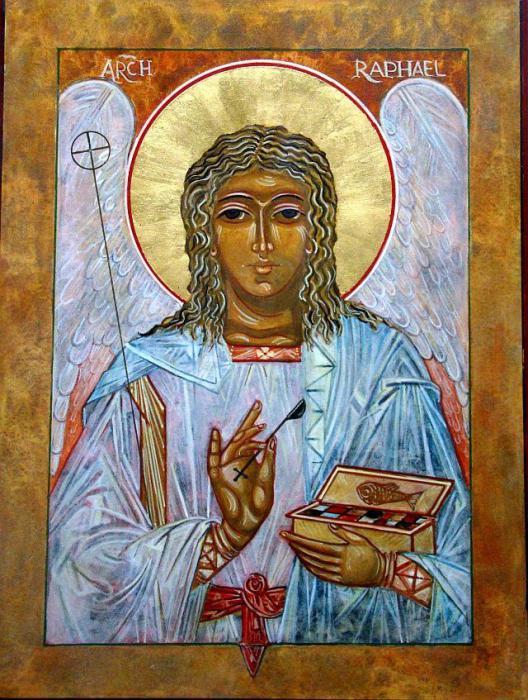 Архангел Рафаил Молитва архангелу Рафаилу Святой архангел Рафаил