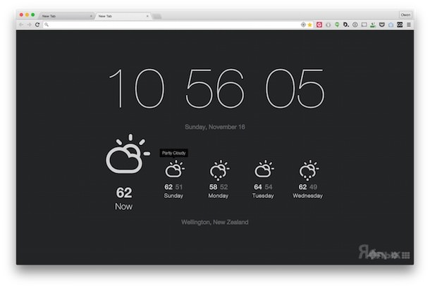 Currently Расширения для Google Chrome