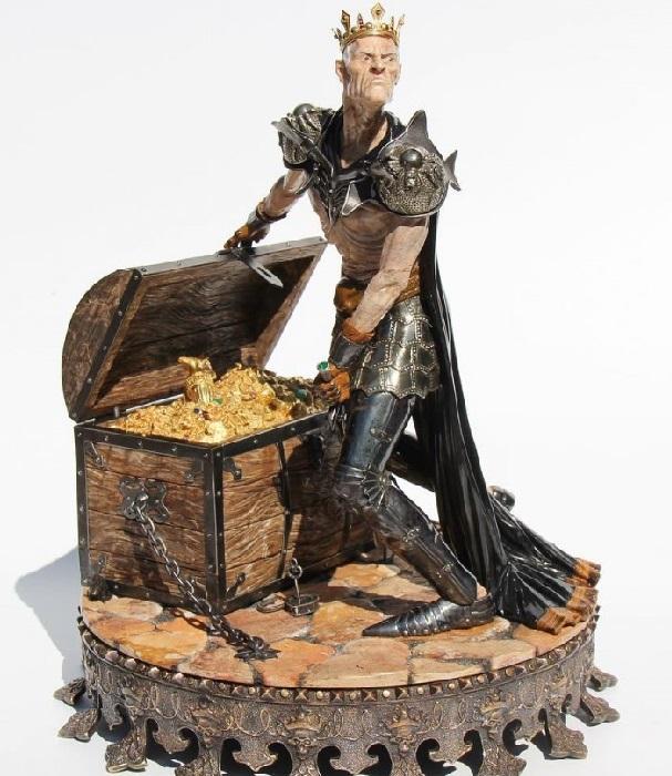 «Царь Кощей Бессмертный». Изготовлено: Камнерезная мастерская Алексея Антонова.
