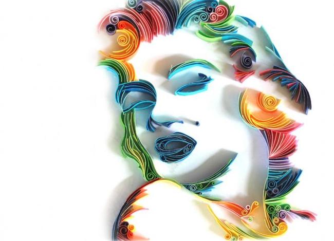 Дух времени отражается и в идеях для квиллинга, например, создания портретов знаменитостей. Отличная идея для интерьера в стиле поп-арт!