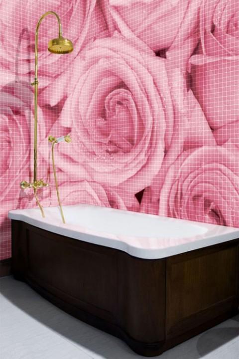 Розовая ванная интерьер