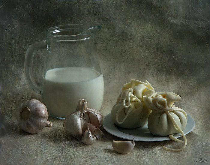 молоко чеснок