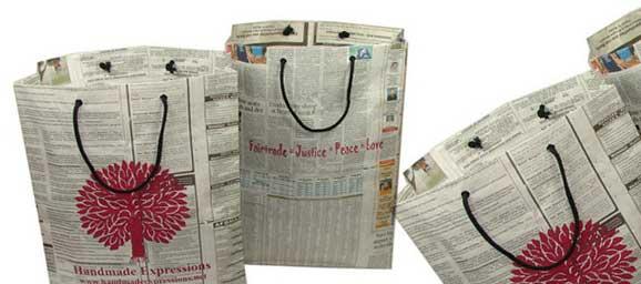 сумка из газет