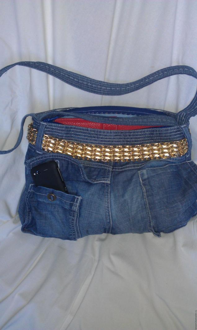 Модная сумка из старых джинсов, фото № 39