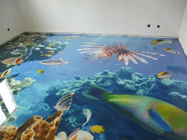 наливной пол — морские обитатели