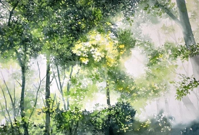 Солнечные лучи. Автор: Abe Toshiyuki.