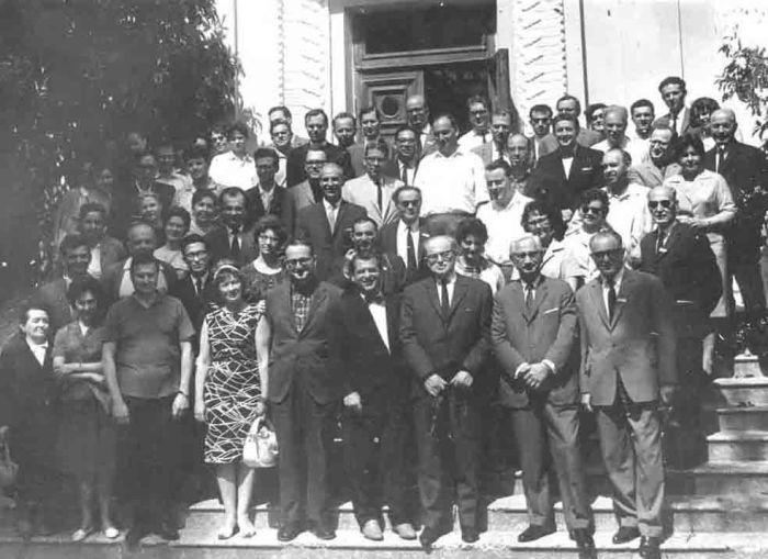 Зильбер на международной конференции. Сухуми, 1965. /Фото: ourbaku.com