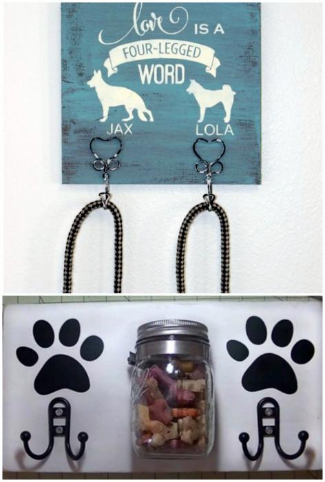 Крючки для собачьих поводков.