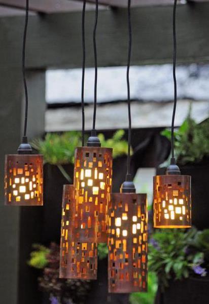 Оригинальные светильники своими руками