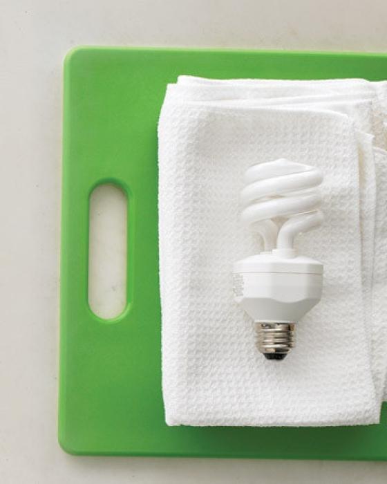 Микрофибровую ткань можно использовать для чистки галогенных и металлогалогеновых лампочек.