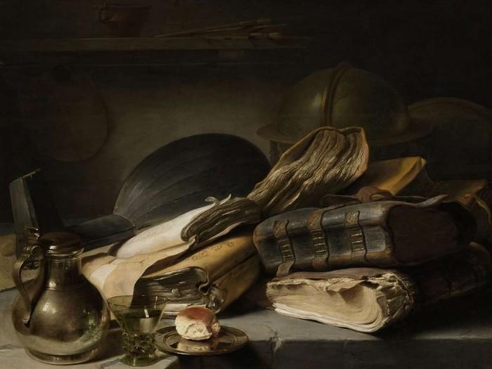 6 Натюрморт с книгами, ок. 1630 (700x525, 68Kb)