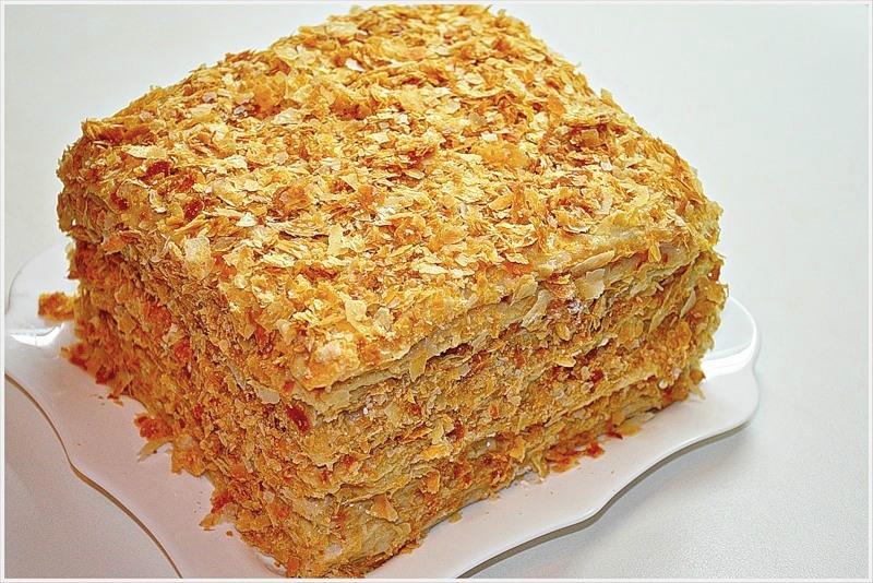 Торт наполеон приготовление с фото