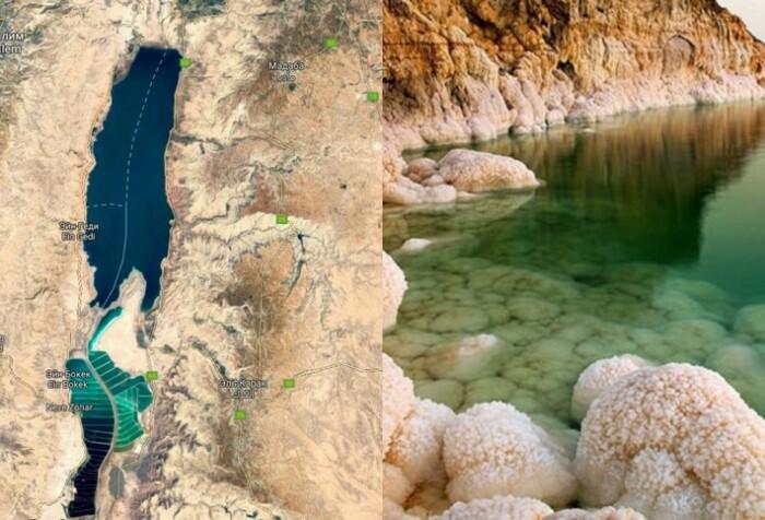 Мертвое море расположено в Иорданской долине на территории трех государств.
