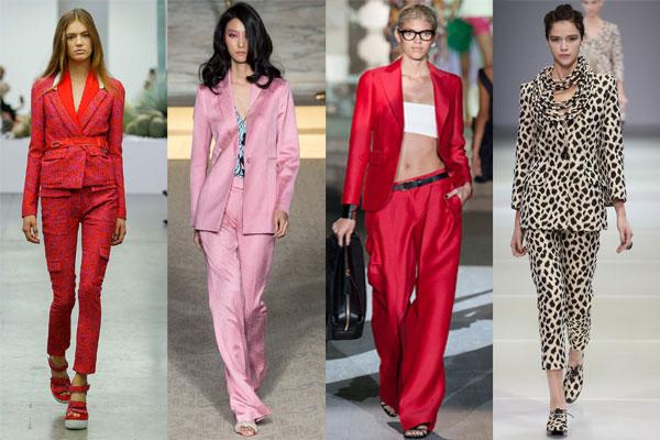 Модные торжественные брючные костюмы весна-лето 2015