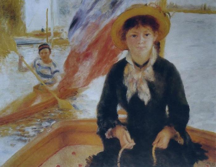 16 Молодая девушка в лодке, 1877 (700x541, 47Kb)