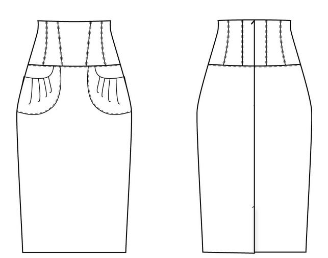 Как сшить длинную модную юбку