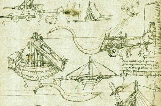 Легендарные дневники да Винчи, где он записывал свои наблюдения, тоже вряд ли его