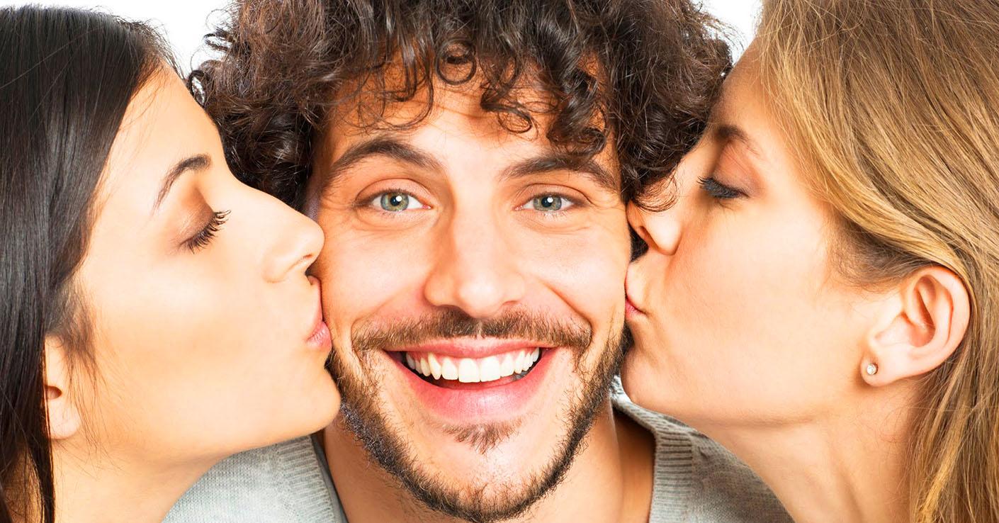 Секс между двух мужчин, Двое мужчин и одна женщина » Порно видео 14 фотография