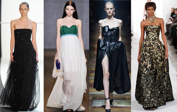 Модные вечерние платья бандо осень-зима 2014/2015