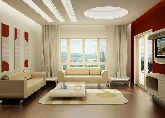 Современный интерьер без ковров
