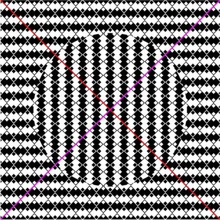 оптические иллюзии, диагонали