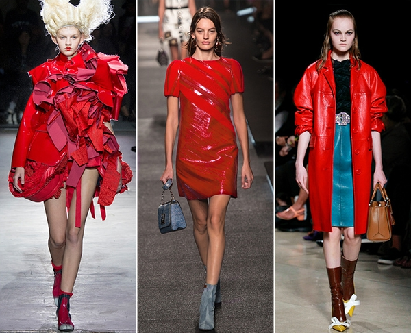 Красный цвет - один из самых эффектных модного сезона весна-лето 2015