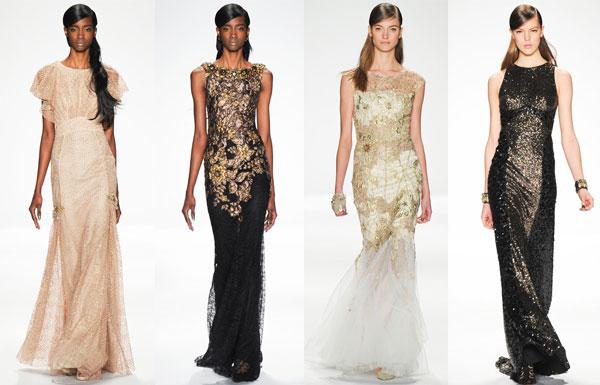 Модные вечерние платья осень-зима 2014/2015 от Badgley Mischka