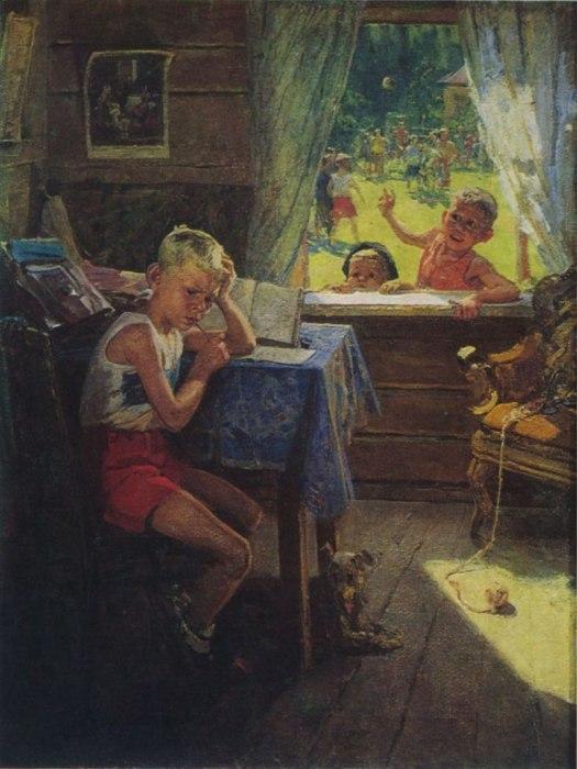Фёдор Решетников, «Переэкзаменовка», 1954 год