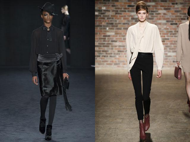 Модные блузы с бантом 2016-2017