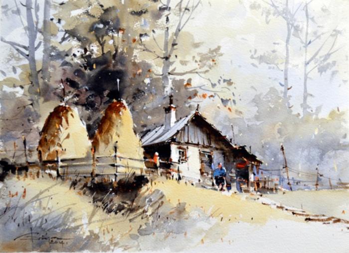 Лето в деревне. Автор: Corneliu Dragan-Targoviste.