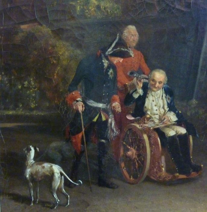 Король Фридрих любил левреток и отпускать оскорбительные шутки.