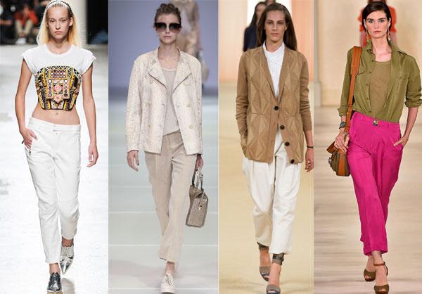 Укороченные брюки весна-лето 2015