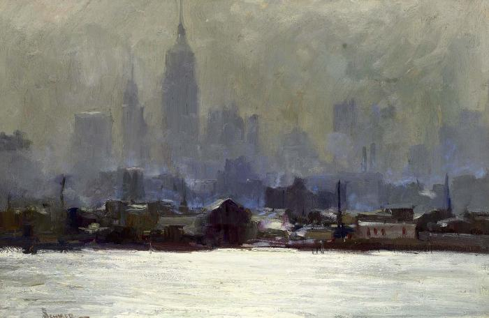 Картина MANHATTAN, CITY DAWN