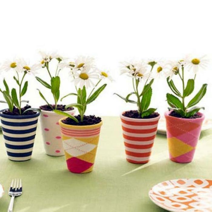 Чехлы для цветочных горшков.