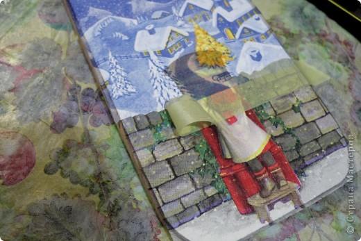 Декор предметов, Мастер-класс Декупаж: как соединить 2 салфетки м\к Салфетки Новый год. Фото 18