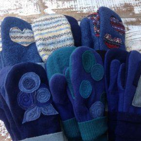 варежки своими руками из старых свитеров