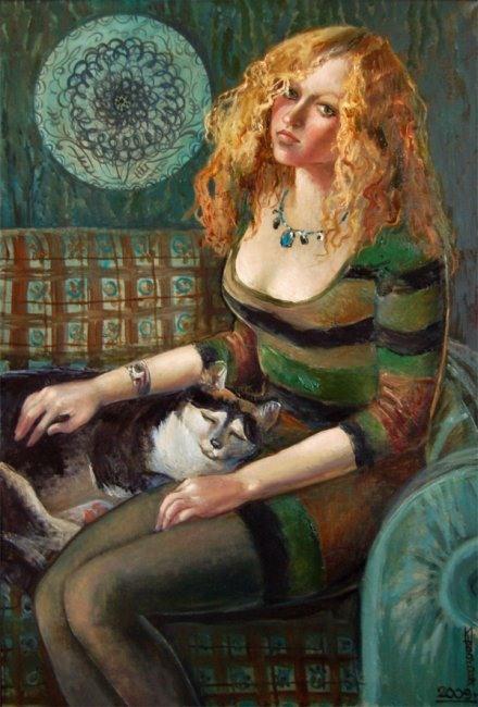 Широкова Инна. Девушка с золотыми волосами. 2009г.