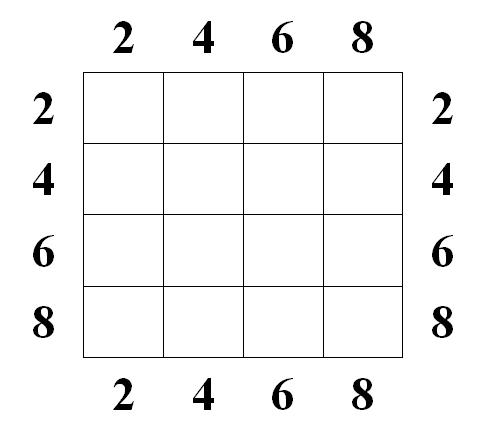 Магический квадрат - Двадцать