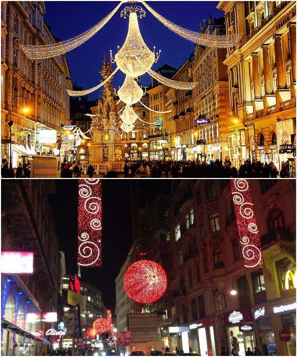 Вена перед Рождеством превращается в настоящую сказку (Австрия).   Фото: modamoda.info /otravel.club.