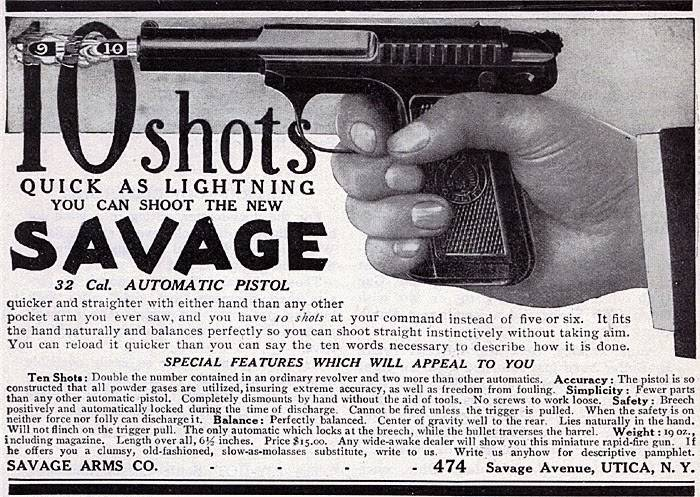 «Сэвидж». Очень хороший пистолет 1907 года