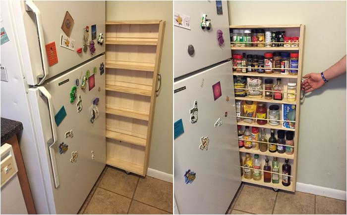 Кладовка может быть даже за холодильником.