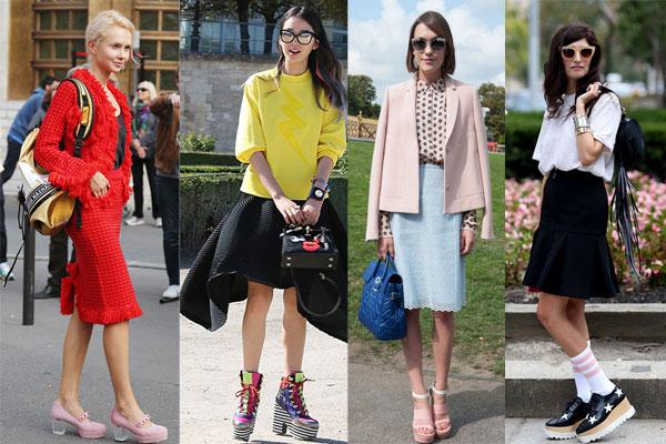 Уличная мода весна-лето 2015: Обувь на высокой подошве