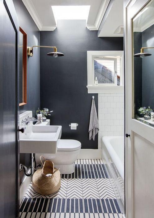 1. Краска в интерьере ванной комнаты.