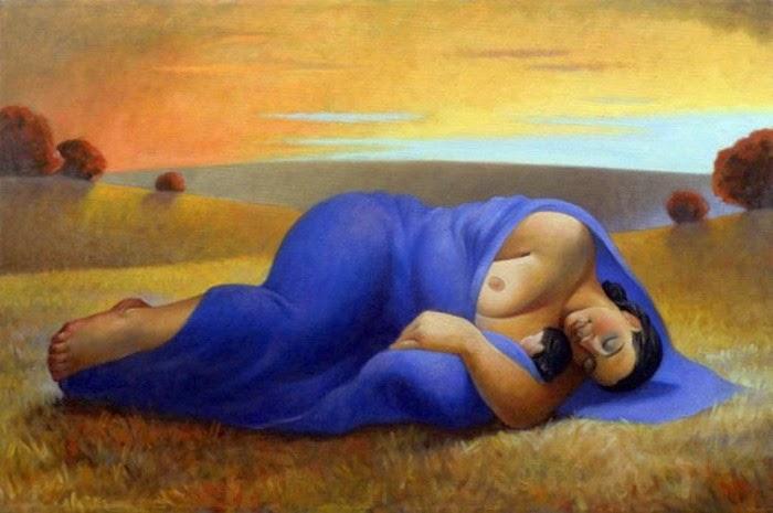 Спьящая мать