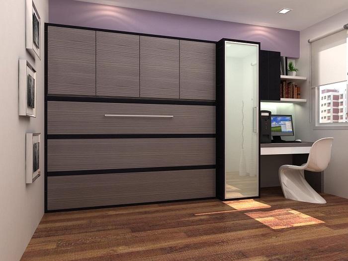 Модульная система для хранения вещей - оригинальное и практичное решение при организации пространства в малогабаритном помещении.