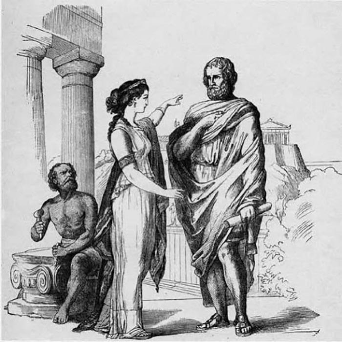 Аспазия и Перикл.